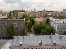 El distrito administrativo de Tverskoy de Moscú, Rusia imagen de archivo