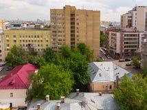 El distrito administrativo de Tverskoy de Mosc?, Rusia foto de archivo
