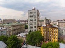 El distrito administrativo de Tverskoy de Mosc?, Rusia fotografía de archivo