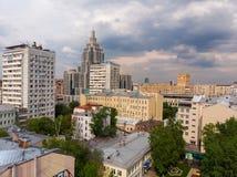 El distrito administrativo de Tverskoy de Mosc?, Rusia imagenes de archivo