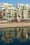 El distrito de la confluencia en Lyon, Francia Imagen de archivo libre de regalías