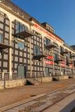 El distrito de la confluencia en Lyon, Francia Fotos de archivo