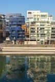 El distrito de la confluencia en Lyon, Francia Fotografía de archivo