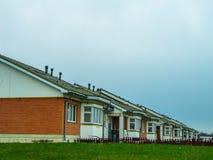 El distrito de nuevos prados en la ciudad de Medyn, región de Kaluga en Rusia Fotos de archivo libres de regalías