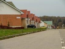 El distrito de nuevos prados en la ciudad de Medyn, región de Kaluga en Rusia Imagen de archivo