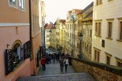 El distrito del castillo en Praga Foto de archivo libre de regalías