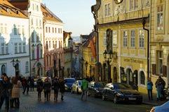 El distrito del castillo en Praga Fotos de archivo libres de regalías