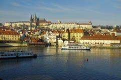 El distrito del castillo (Hradcany) en Praga Fotos de archivo