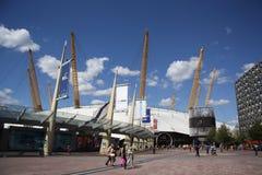 El distrito del entretenimiento O2 en Londres Fotos de archivo