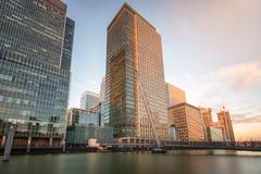 El distrito financiero Canary Wharf en Londres, Reino Unido Fotos de archivo