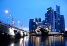 El distrito financiero, Singapur Fotografía de archivo libre de regalías