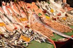 El diverso mercado de pescados fresco vendió imágenes de archivo libres de regalías