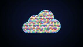 El diverso uso hace servicio de la nube libre illustration
