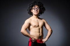 El divertirse divertido del deportista Fotografía de archivo libre de regalías