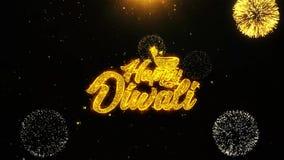 El diwali feliz de Shubh desea la tarjeta de felicitaciones, invitaci?n, fuego artificial de la celebraci?n colocado