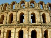 El Djam罗马colosseum,突尼斯 免版税库存图片