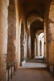 El Djam Amphitheater hallway Stock Photo