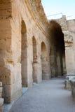 El Djem, Amfiteatru korytarz Obraz Stock