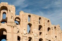El Djem Amphitheater (4). El Djem Roman Amphitheatre in Tunisia Stock Photography