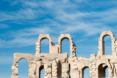 El Djem Amphitheater (7). El Djem Roman Amphitheatre in Tunisia Royalty Free Stock Photos