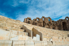 El Djem Amphitheater (10). El Djem Roman Amphitheatre in Tunisia Stock Image