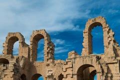 El Djem Amphitheater (14). El Djem Roman Amphitheatre in Tunisia Royalty Free Stock Image