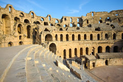 El Djem, Amphitheatre, auditorium Royalty Free Stock Photography