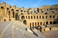 El Djem, Amphitheatre, auditorium Royalty Free Stock Photography