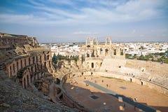 El Djem Amphitheatre in Tunisia royalty free stock image