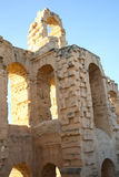 El Djem, Amphitheatre łuki Obrazy Royalty Free