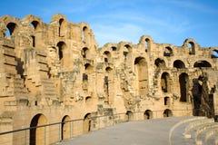 El Djem, Amphitheatre walls Royalty Free Stock Photo