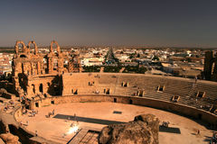 El Djem ampitheatre Tunisia Royalty Free Stock Photo