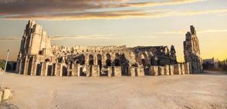 El Djem Colosseum amfiteatr Tunezja, afryka pólnocna Obraz Stock