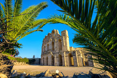 El Djem Colosseum amphitheater. Tunisia, North Africa Royalty Free Stock Image