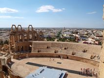EL Djem, Mahdia, Tun?sia - 16 05 Anfiteatro 2012 romano antigo no EL Jem em Tun?sia imagens de stock royalty free