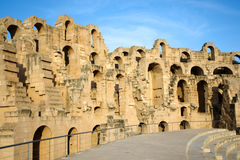 EL Djem, paredes do Amphitheatre foto de stock royalty free