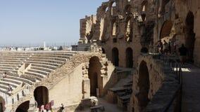 EL Djem, Tunis de l'amphithéâtre OD photographie stock