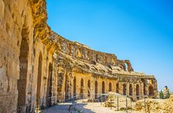 Historic amphitheater in El Djem Royalty Free Stock Images