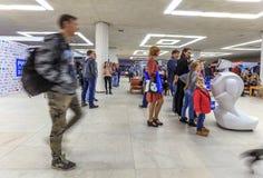 El 2do foro informativo ruso de la robótica y de las tecnologías avanzadas el 2 de octubre de 2016 en Ulyanovsk, Rusia Fotografía de archivo libre de regalías