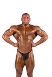 El doblar del Bodybuilder Imagen de archivo libre de regalías