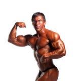 El doblar del Bodybuilder Foto de archivo