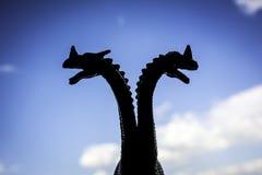 El doble dirigió el dragón o al monstruo fotos de archivo libres de regalías