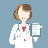 El doctor Character de la mujer Imágenes de archivo libres de regalías