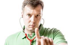 El doctor da instrucciones Foto de archivo libre de regalías