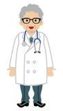 El doctor de sexo masculino - Gray Hair stock de ilustración