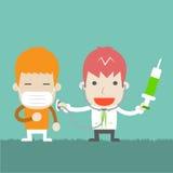 El doctor es invitación el paciente, ilustración del vector