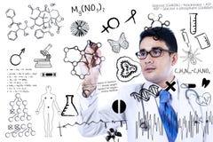 El doctor está escribiendo concepto médico Imagen de archivo libre de regalías