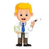 El doctor feliz Holding Syringe libre illustration
