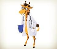 El doctor Giraffe de la diversión stock de ilustración