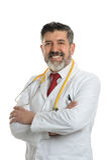 El doctor hispánico Smiling Fotografía de archivo